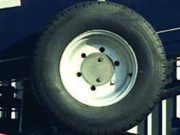 Spare wheel with holder