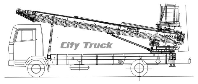 Technical drawing City Truck WH-M