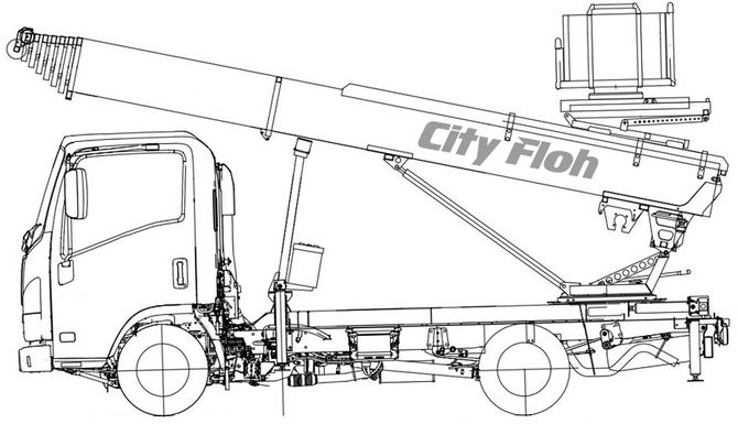 Technical drawing City Floh WH-M